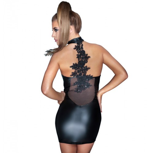noir-strapless-wetlook-minidress-with-embroidery-500×500